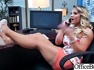 Busty blonde slut Office Girl Cali Carter Get Hardcore sex Action Bang vid