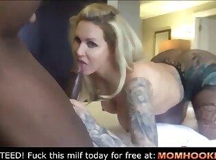 Hot mom gets a bbc creampie
